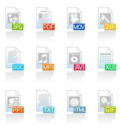 file format icons vector image vector image