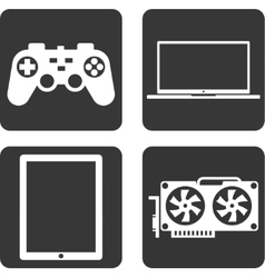 Flat icons technology vector image vector image