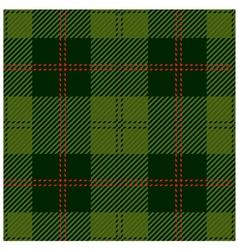 Green Tartan Cloth Design vector image