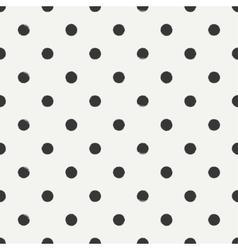 Hand drawn geometric seamless ink polka dot vector image vector image