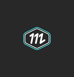 M logo letter monogram mockup design element thin vector image vector image