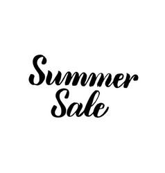 summer sale handwritten calligraphy vector image vector image