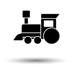 train toy ico vector image vector image