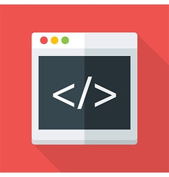 Website coding flat stylized vector image