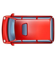 A topview of a minivan vector image vector image