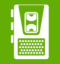dictaphone icon green vector image
