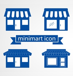 Store flat icon on white background vector image