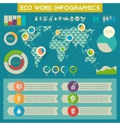 Utility infographics with world map vector image
