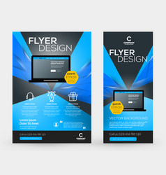 abstract business brochures cover or banner vector image