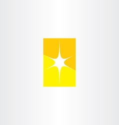 abstract star yellow symbol element vector image