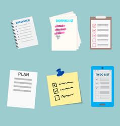 agenda list concept set vector image