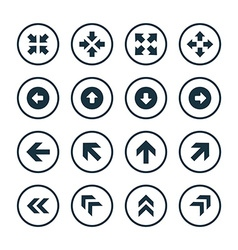 Arrows icons universal set vector