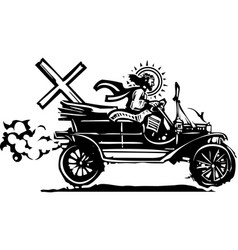 automobile easter christ vector image