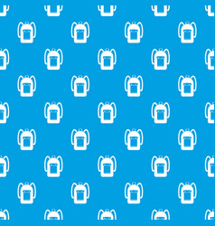 Backpack pattern seamless blue vector