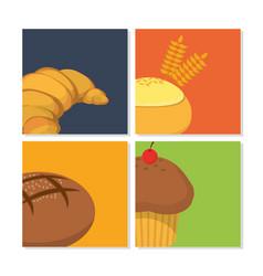 Bakery pattern background vector
