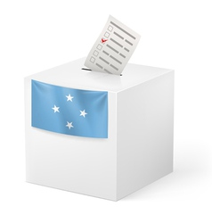 Ballot box with voting paper federated states of vector