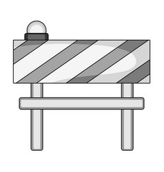 Barrier single icon in monochrome stylebarrier vector