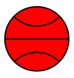 Basketball in the flat style icon vector