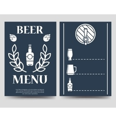 Beer brochure flyer template vector