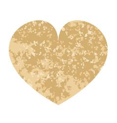 beige heart vector image