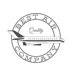 Best air company retro label vector image vector image