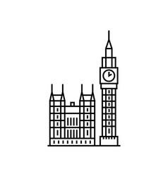 big ben london clock icon sign design vector image