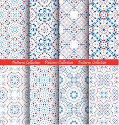 Blue flower pattern backgrounds vector