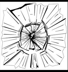 broken glass vector image