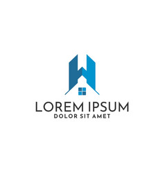 Building logo template with apartment construction vector