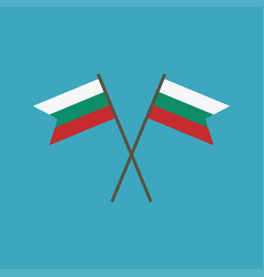 bulgaria flag icon in flat design vector image