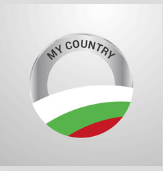 bulgaria my country flag badge vector image