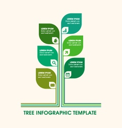 Business tree infographic icons copy space text vector