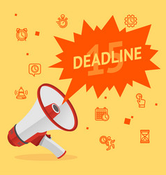 cartoon deadline concept banner poster card vector image