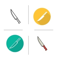 Chefs knife icons vector