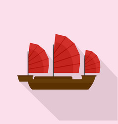 China ship icon flat style vector