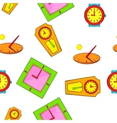 Clock pattern cartoon style vector