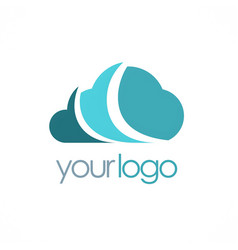 Cloud technology logo vector