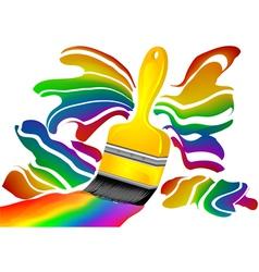 color painter vector image