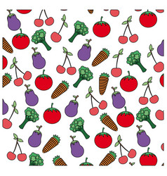 color vegetables background icon vector image