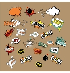 Comics Sound Effects and Explosions vector image
