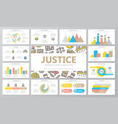 Crime law police and justice multipurpose vector