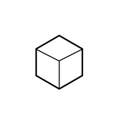 cube geometry figure vector image