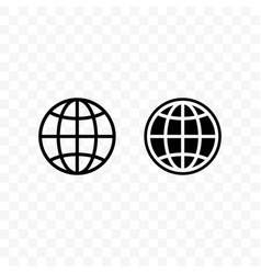 Earth globe icon international travel website vector