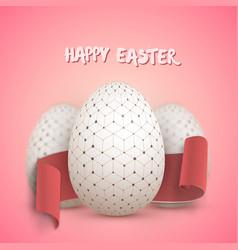 Easter egg set vector