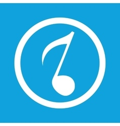 Eighth note sign icon vector