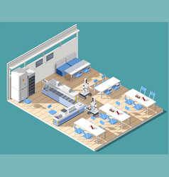 Fastfood restaurant isometric composition vector