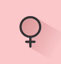 female symbol with shade on a pink background vector image