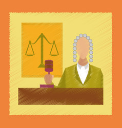 flat shading style icon jurisdiction judge vector image