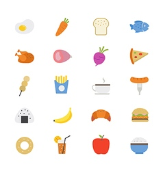 Food and Drink Flat Icons color vector