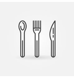Food line icon vector image